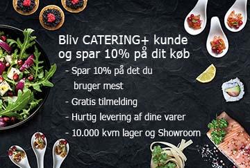 Bliv Catering+ kunde og spar 10% på dit køb