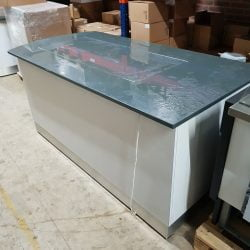 Buffetbord med varme og varmeskab på hjul, brugt