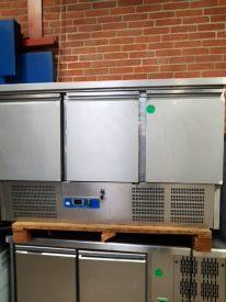 Kølebord med 3 låger fra COOLHEAD, brugt