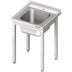 Stålbord 600x600x850 mm med vask,  Stalgast Saml selv