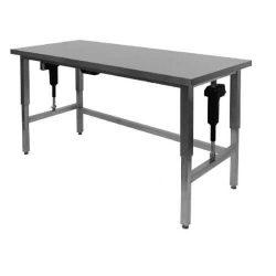Hæve-/sænkebord, uden underhylde, 70cm dyb, Flere længder