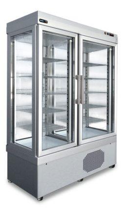 Frysemontre / fryseskab dobbelt fra Afinox, statisk eller ventileret
