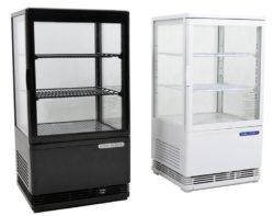 Kølemontre / kagemontre i hvid eller sort, 78 ltr.