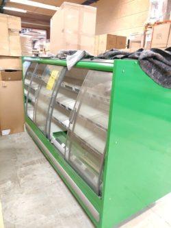 Kølereol med skydelåger og intern kompressor, brugt