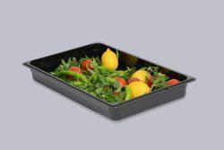 Gastrobakke i sort polycarbonat - GN 1/1
